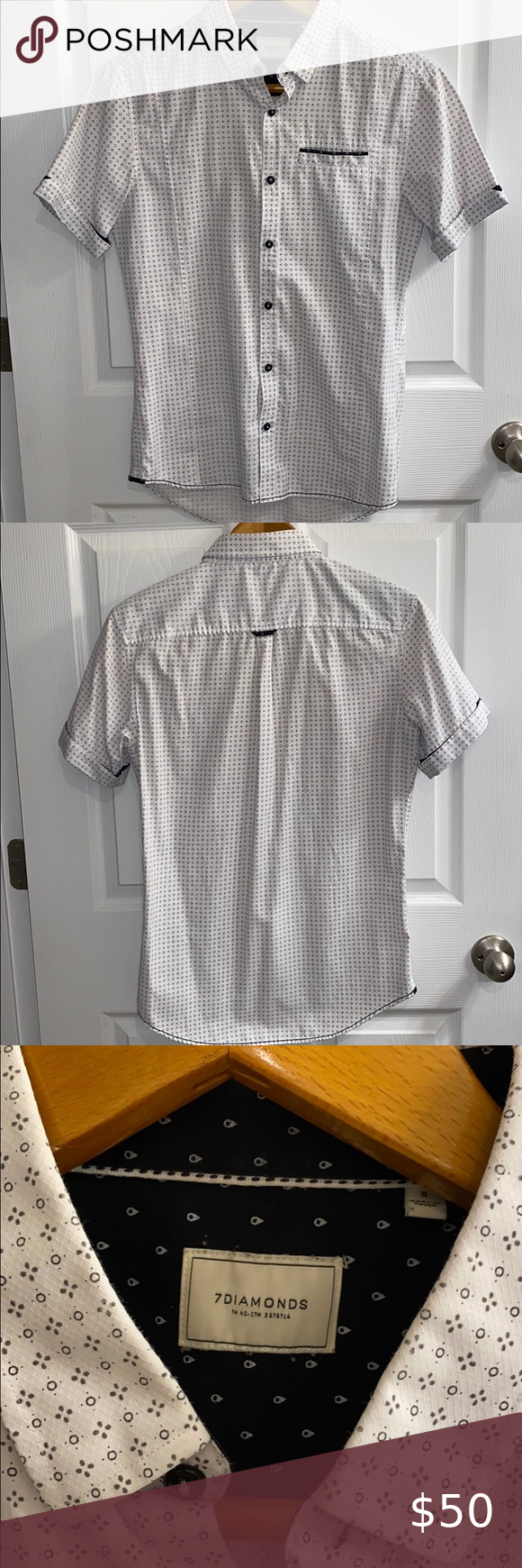 Buckle dress shirt Excellent hardly worn dress shirt maybe worn 1 time at best. ...