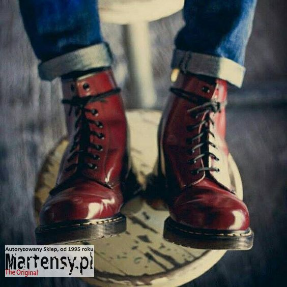 Buty Dr Martens 1460 W Cherry Red Smooth 11821600 Mens Boots Fashion Boots Dr Martens Boots