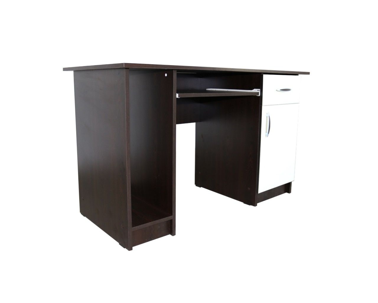 Wenge-ivory desk with space for PC unit