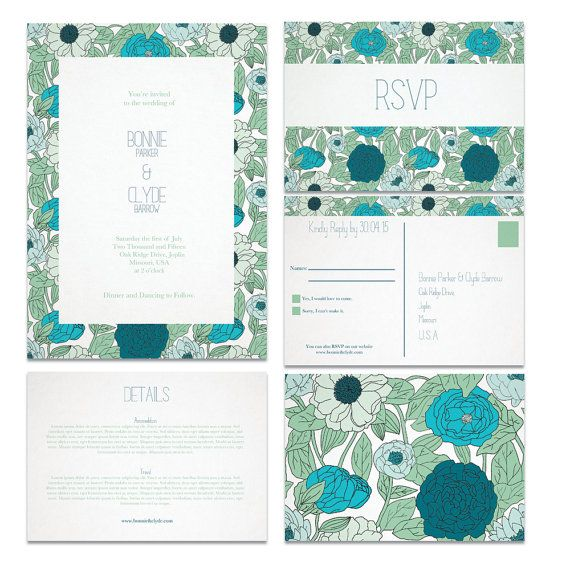 The Blue Blooms Printable Wedding Suite