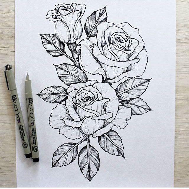 Line Art Flower Tattoo : Rosas sketch pinterest tattoo piercings and tatting