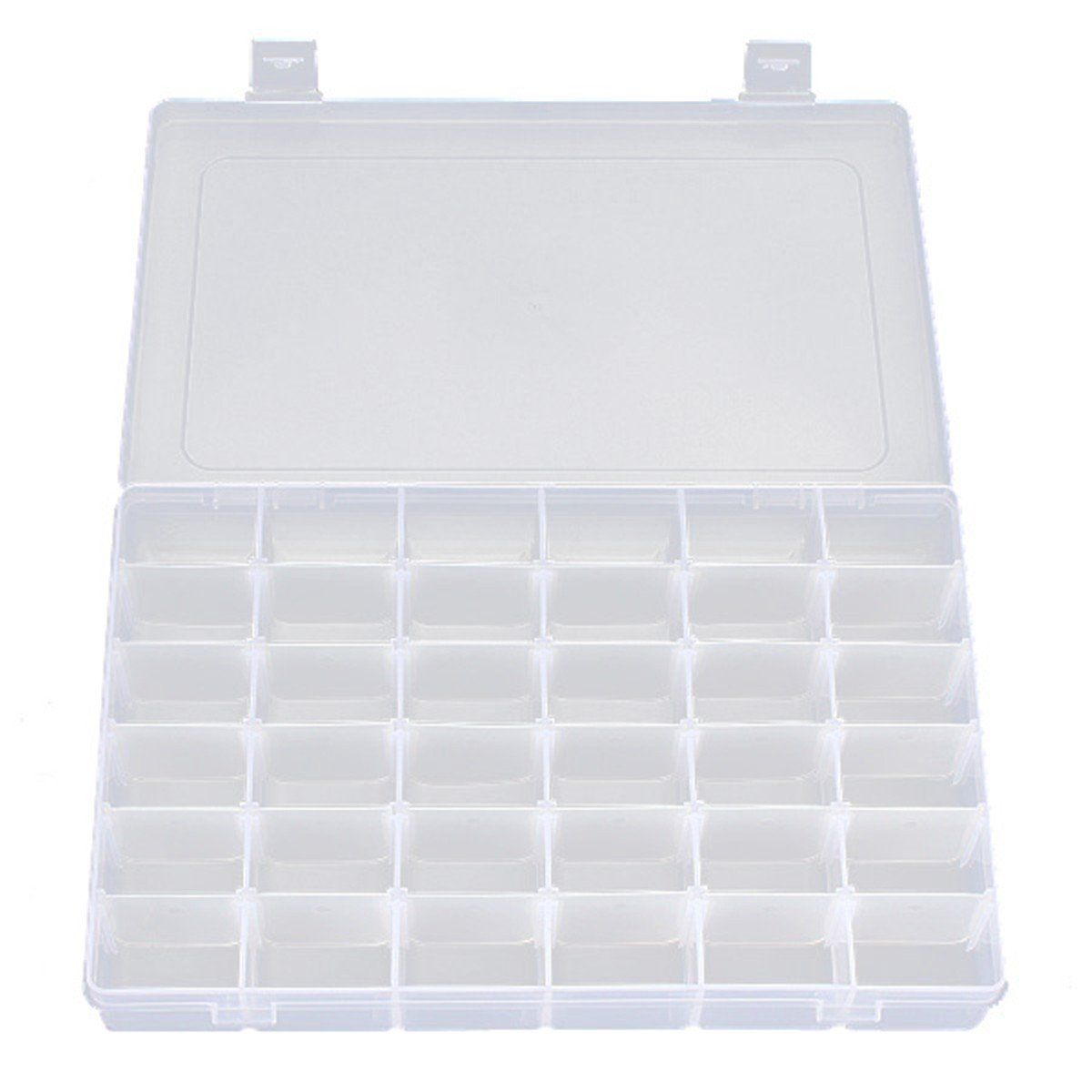 OULII Clear Plastic Jewelry Box Organizer Storage Container with