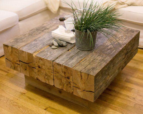 Reclaimed Lumber Beam Coffee Table Reclaimed Wood Coffee Table