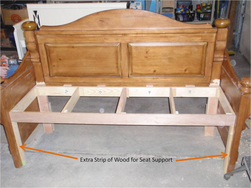 Headboard Into Beautiful Stained Bench