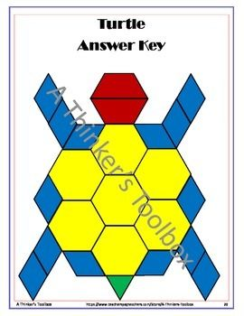 Pattern Blocks Animal Puzzles Pattern Blocks Math Patterns