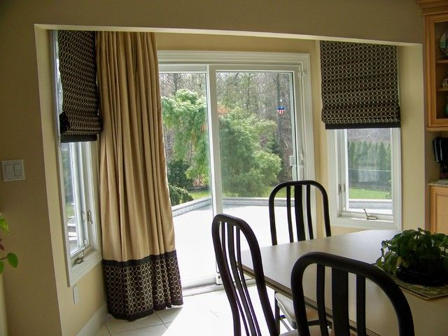 Kitchen Door Window Treatments - Bay Window W/ Door