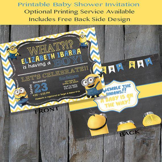 PRINTABLE Minion Baby Shower Invitation By IrresistibleInvites1
