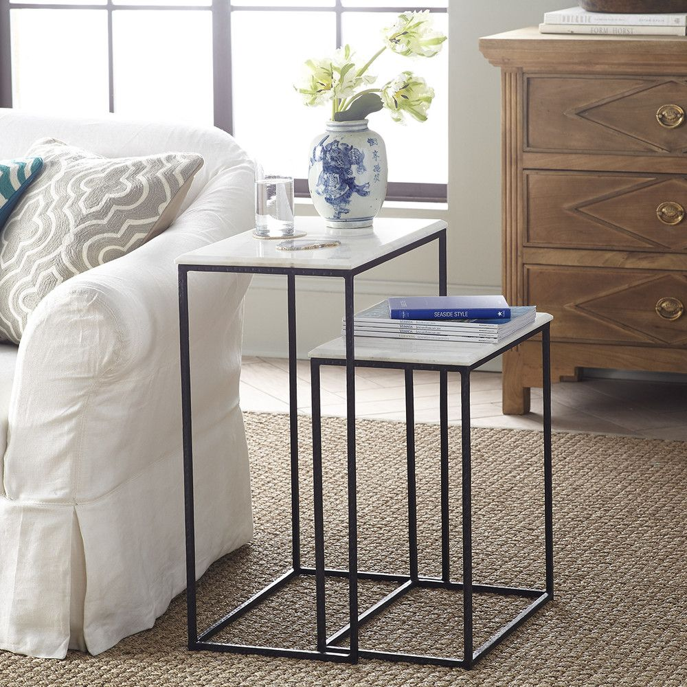 Marble Nesting Side Tables Set Of 2 New Marble Tables Design Marble Tables Living Room Nesting End Tables