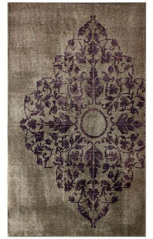 nuLOOM Grey Melina Hand-knotted Ovedyed style rug   Transitional, Traditional Rugs