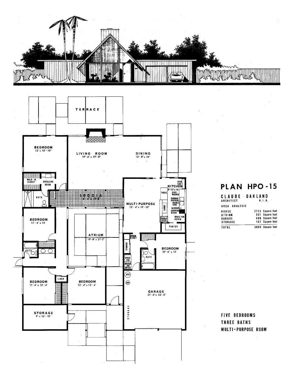 Dc Hillier S Mcm Daily The Art Of The Eichler Eichler House Plans House Floor Plans Vintage House Plans