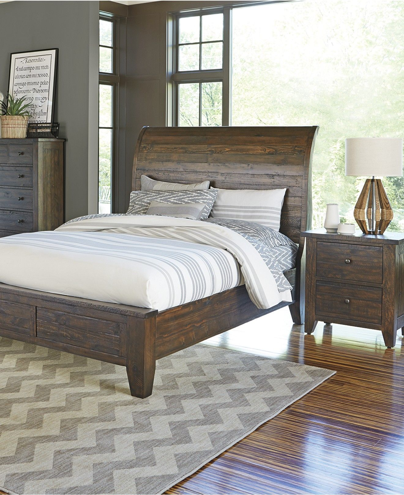 Ember Bedroom Furniture, 3-Pc. Set (King Bed, Nightstand