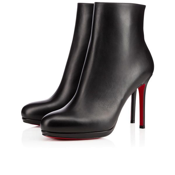 Christian Louboutin Bootylili Black Leather Ankle Boots 100mm ...