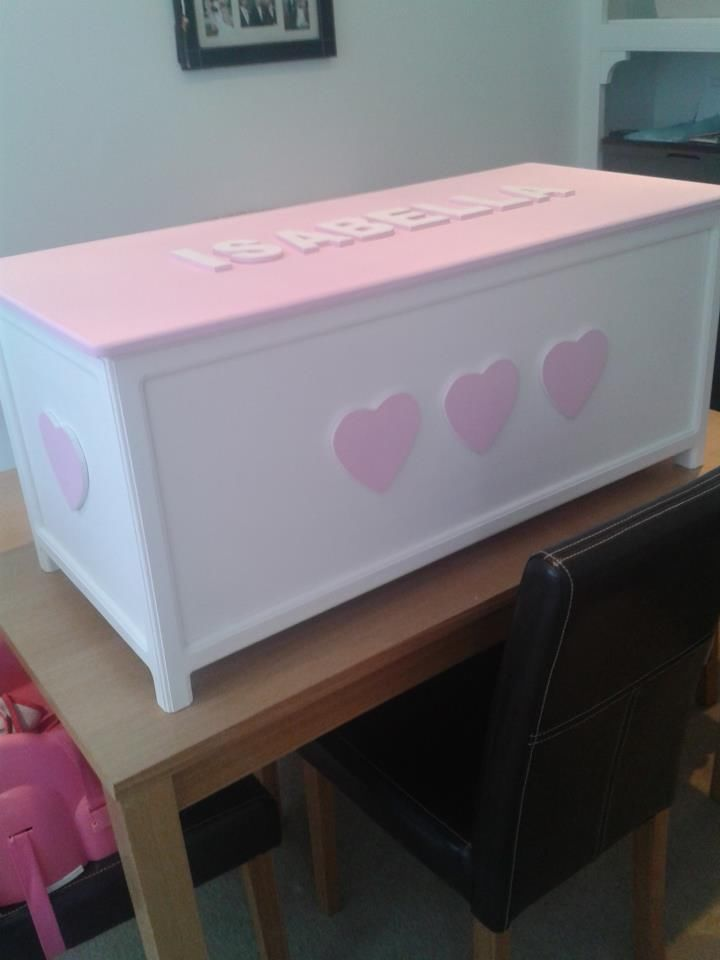 Baby Bedroom In A Box Special: Childrens Personalised Wooden Toy Box