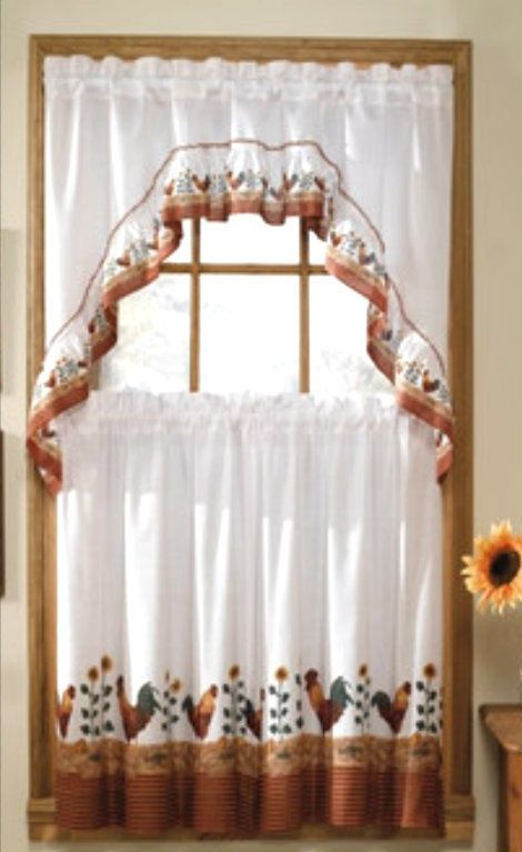 Morning Rooster Sunflower New Kitchen Window Curtains Swag Valance New Country Kitchen Curtains Kitchen Curtains Curtains