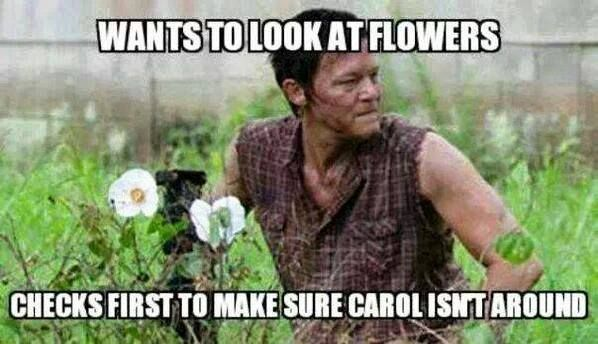 Carol Checks Out.