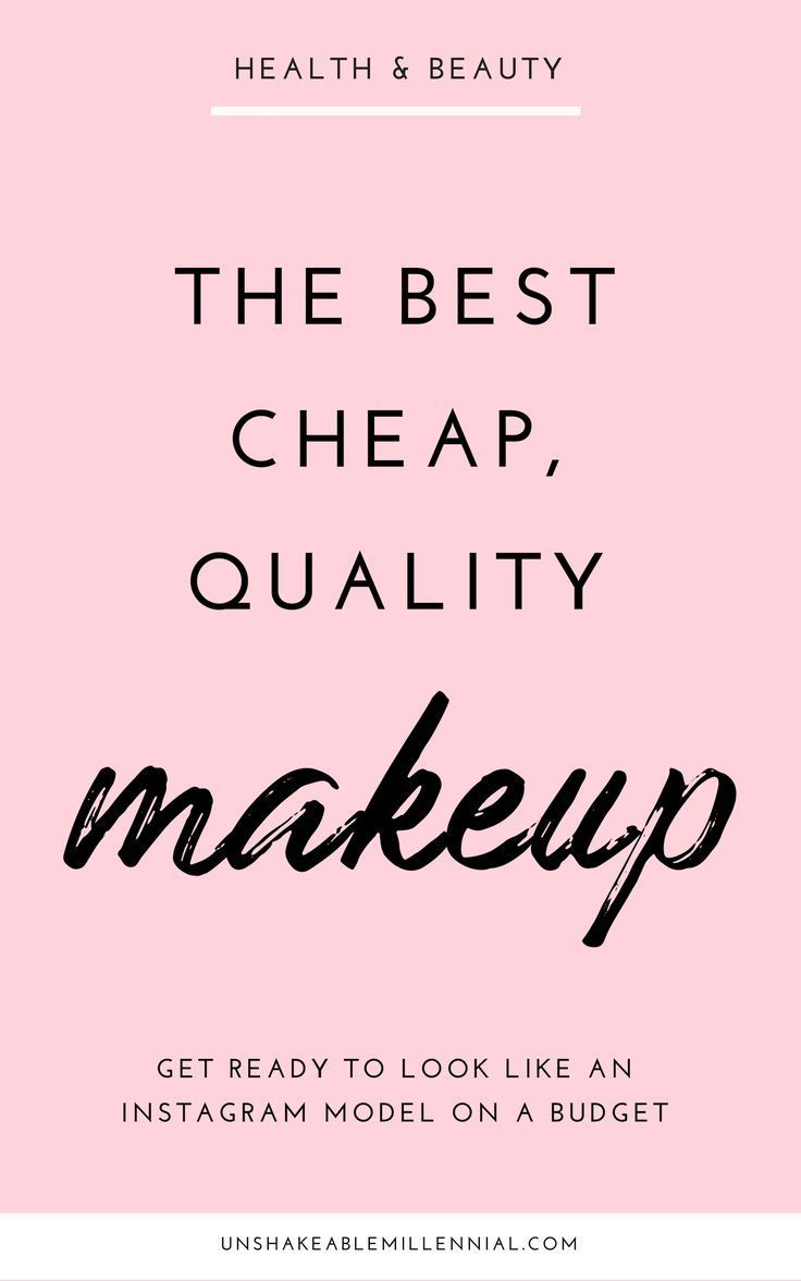 The Best Cheap Makeup That Nobody Talks About -   15 makeup Beauty budget ideas