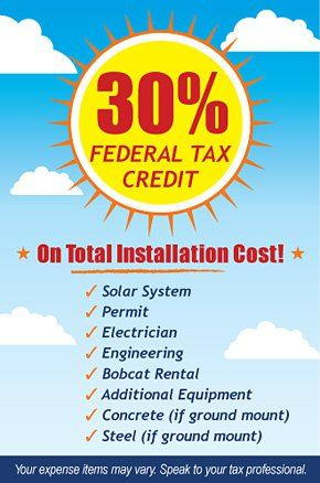 Federal Tax Credit For Solar And Wind Power Projects Wholesale Solar Federal Taxes Solar Solar Energy System