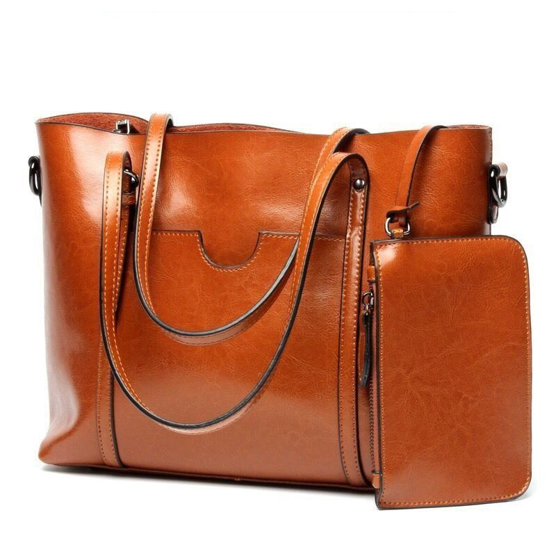 36b0a06bad Women Casual Genuine Leather Tote Handbag