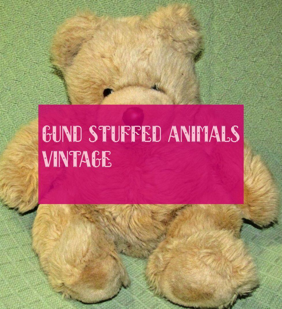 Cru Animaux En Peluche Gund Gund Stuffed Animals Vintage
