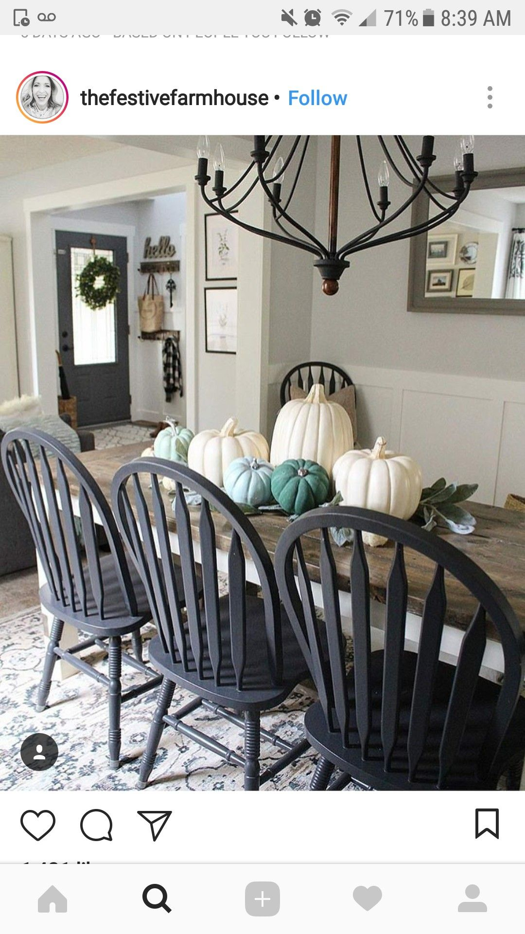 Matte Black Chairs Farmhouse Dining Room