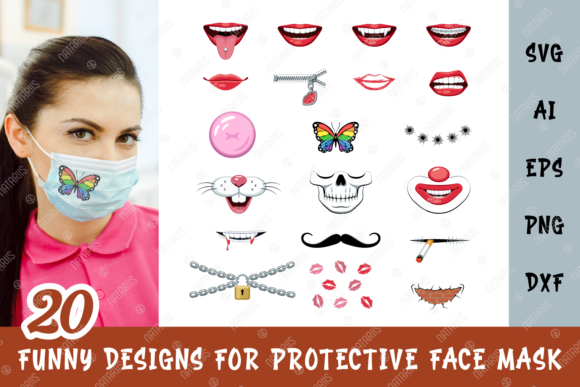 Face Mask Cartoon Images Png Free Svg Cut Files For Cricut Maker