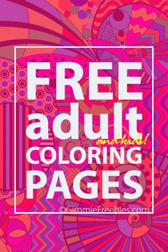 Free Crayola Printable Coloring Book Pages Adult