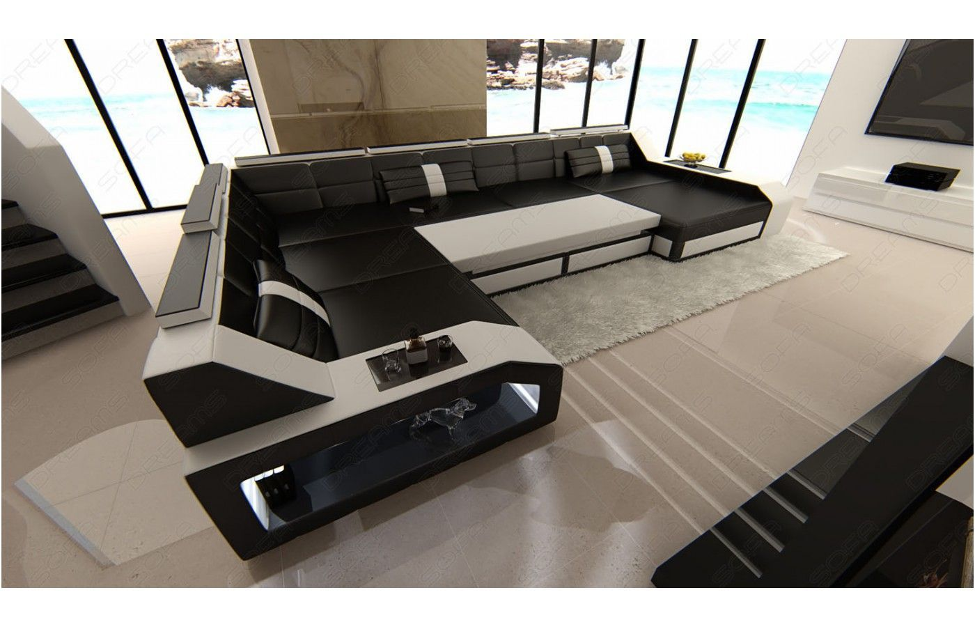 Sauber Wohnlandschaft Mit Beleuchtung Corner Sofa Luxury Bedroom Decor Luxurious Bedrooms