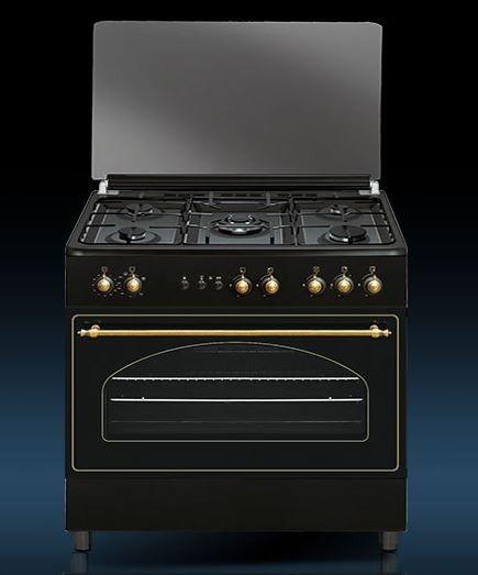 Tapas Para Cocinas De Gas | Conjunto De Cocina Vitrokitchen Ru9060b 90 X 60 X 85 Cm Gas Butano