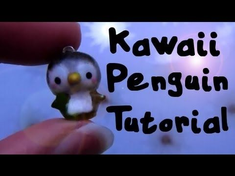 Kawaii Penguin Tutorial: Polymer Clay Charm :)