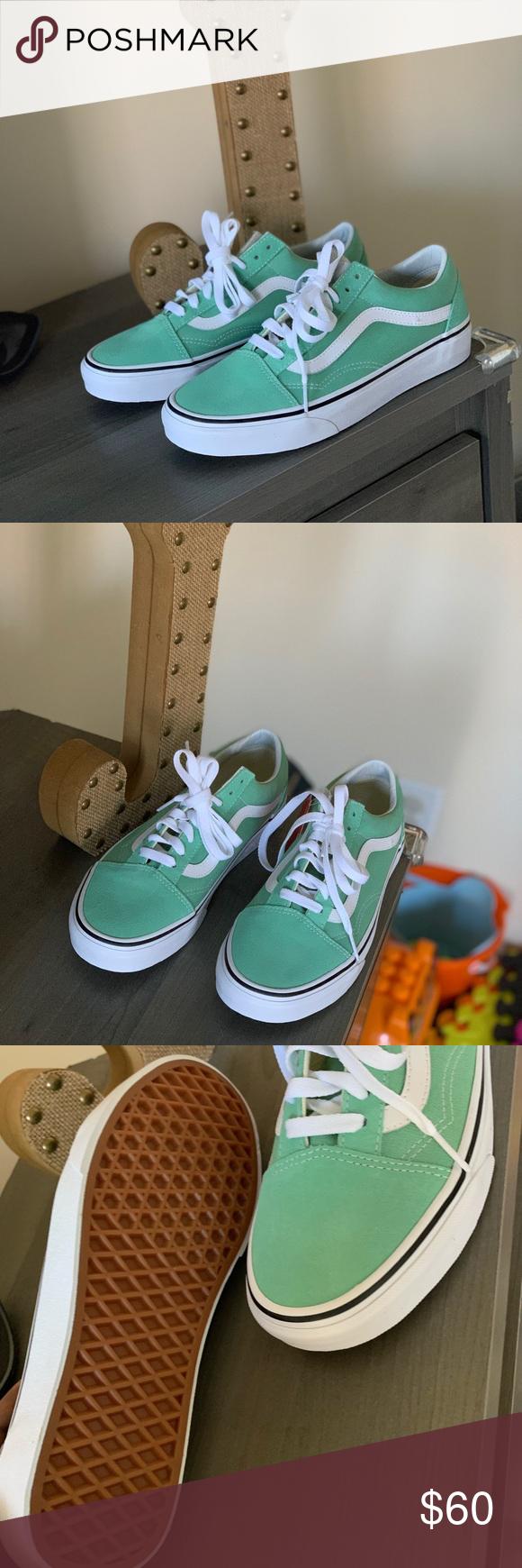 neptune green old skool vans