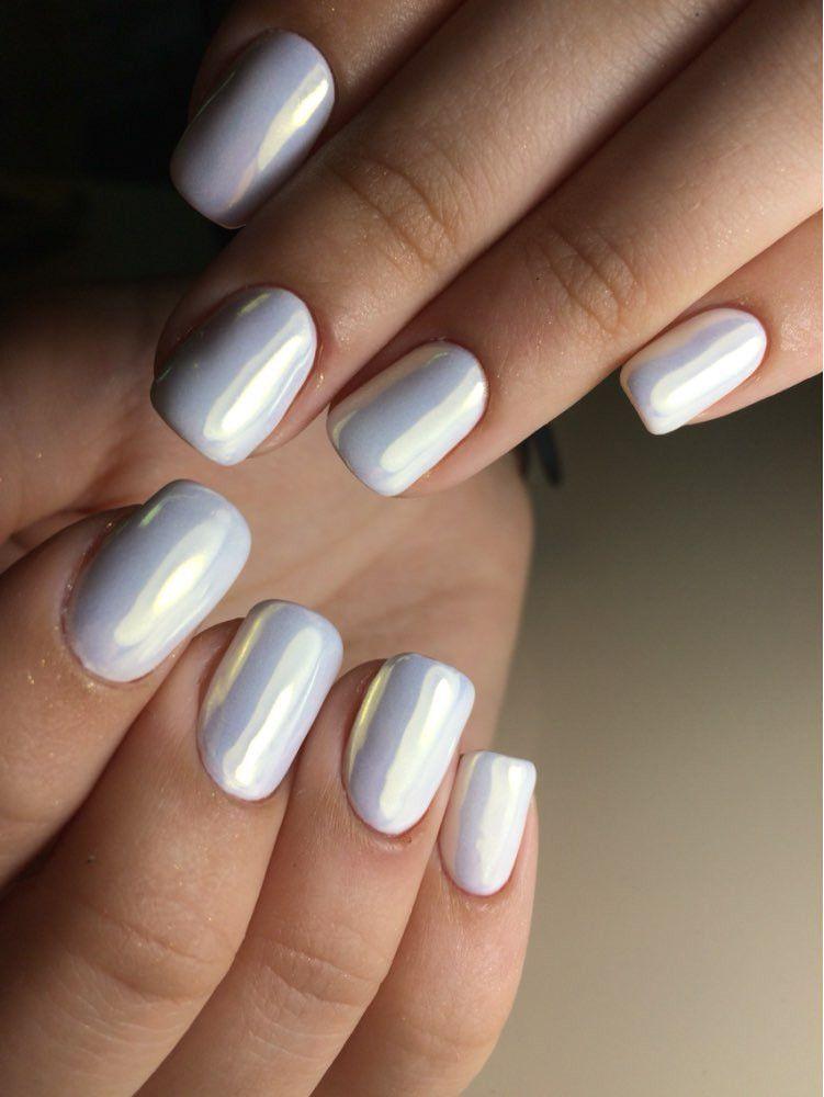 Mirror Nail Glitter Acrylic Nail Design For Summer Winter Spring ...