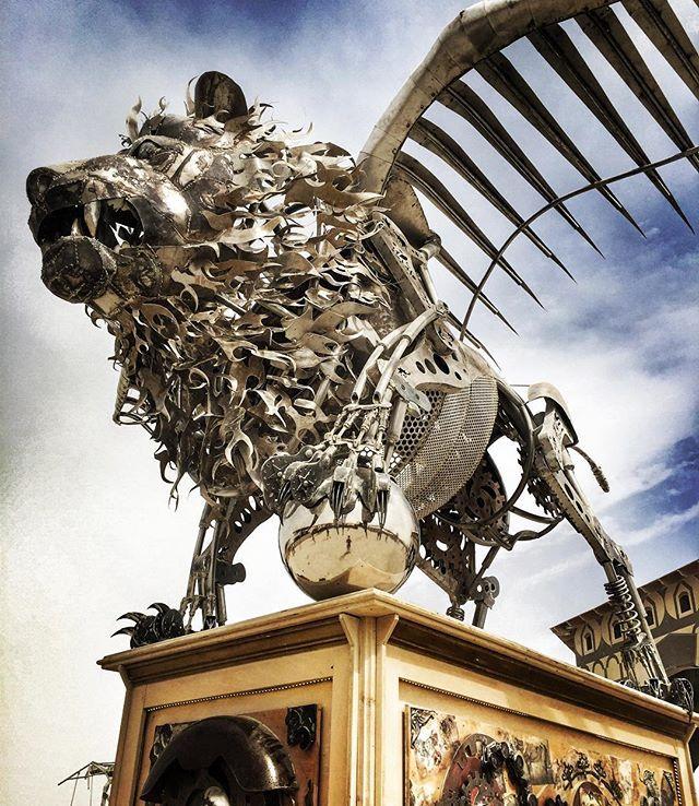 Burning Man #burningmanart #burningmandavinci #burningman2016 #burningman #flyinglion #lion #lionart #burningmanstyle #burningmanlion