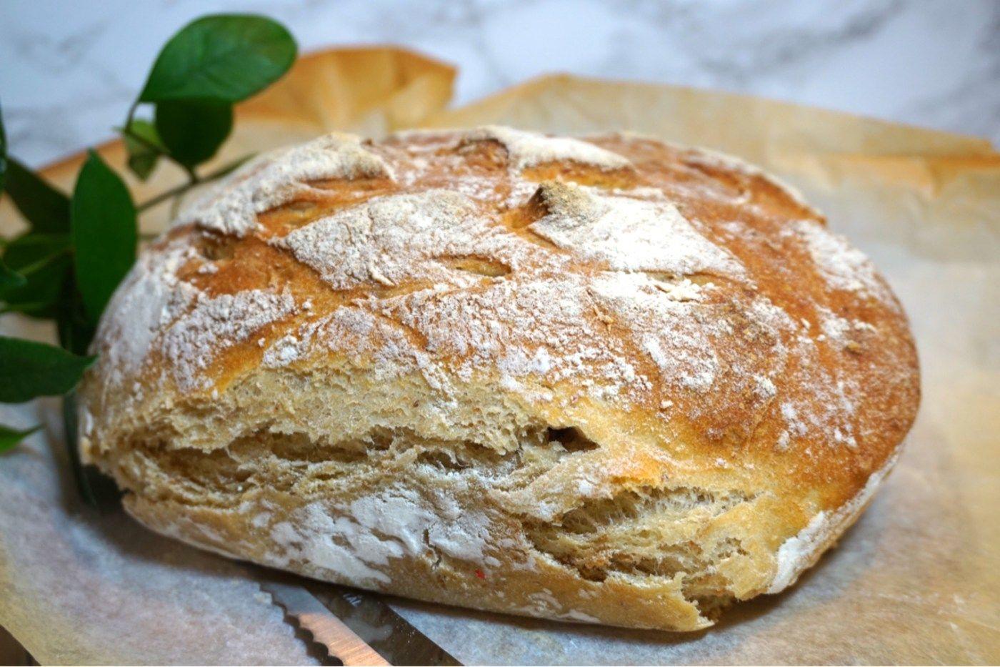 bröd med rågflingor