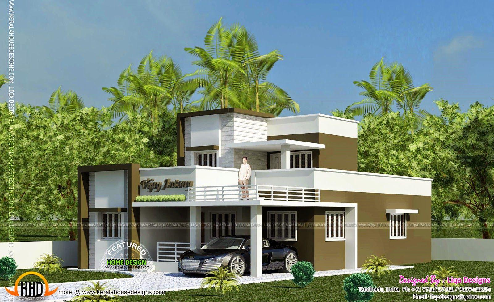 1365 sq-ft 2 bedroom small house design | Smallest house, Bedroom ...