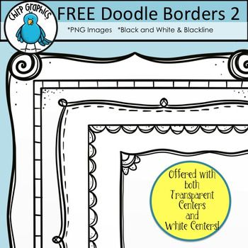 Enjoy These Free Hand Drawn Doodle Border Designs For Your Creations They Re Easy On The Ink And They Re Created Free Doodles Doodle Borders Clip Art Borders
