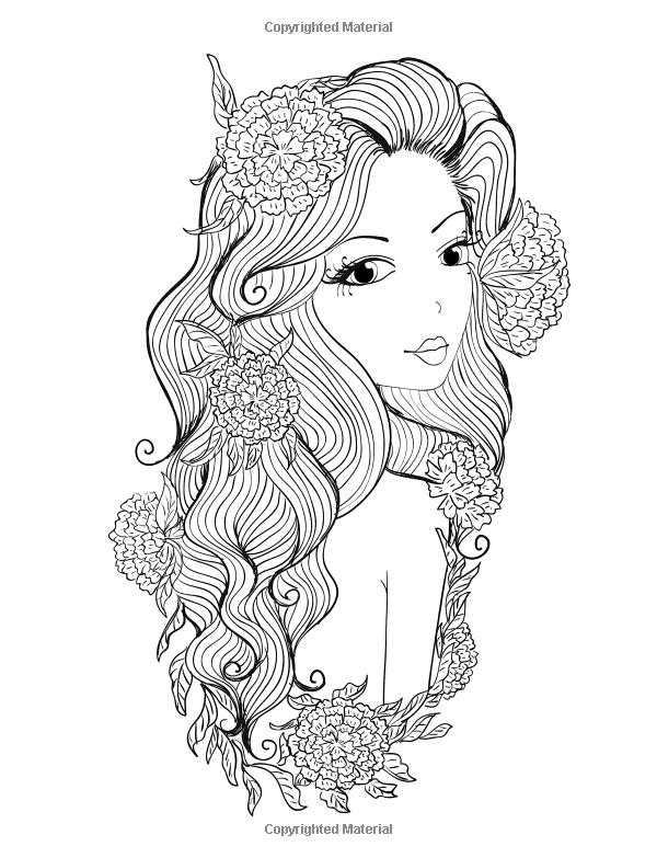 Coloring Books For Girls: Princess & Unicorn Designs