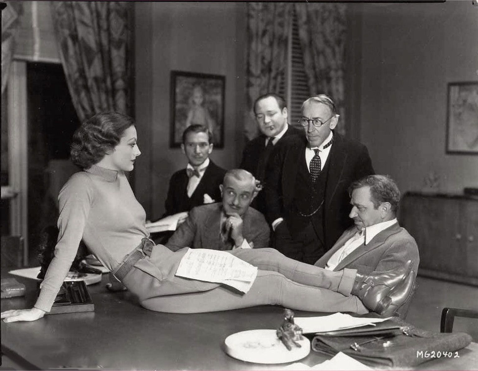 "Joan Crawford Set Of ""grand Hotel"" -1932 Film"