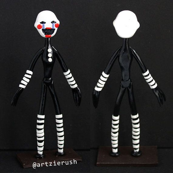 The Puppet Polymer Clay Figurine from Five Nights at by ArtzieRush