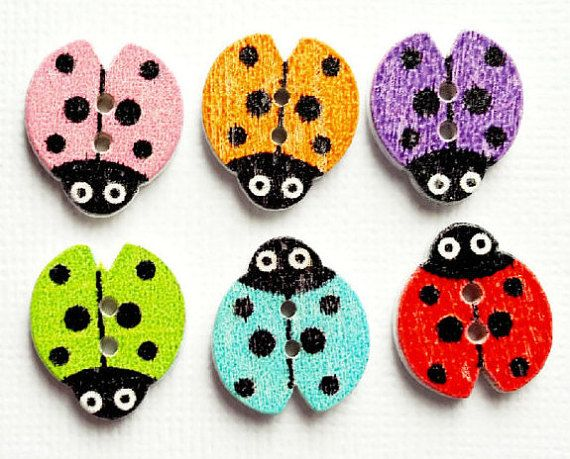 2  X 18mm  MULTI COLOURED BUTTONS