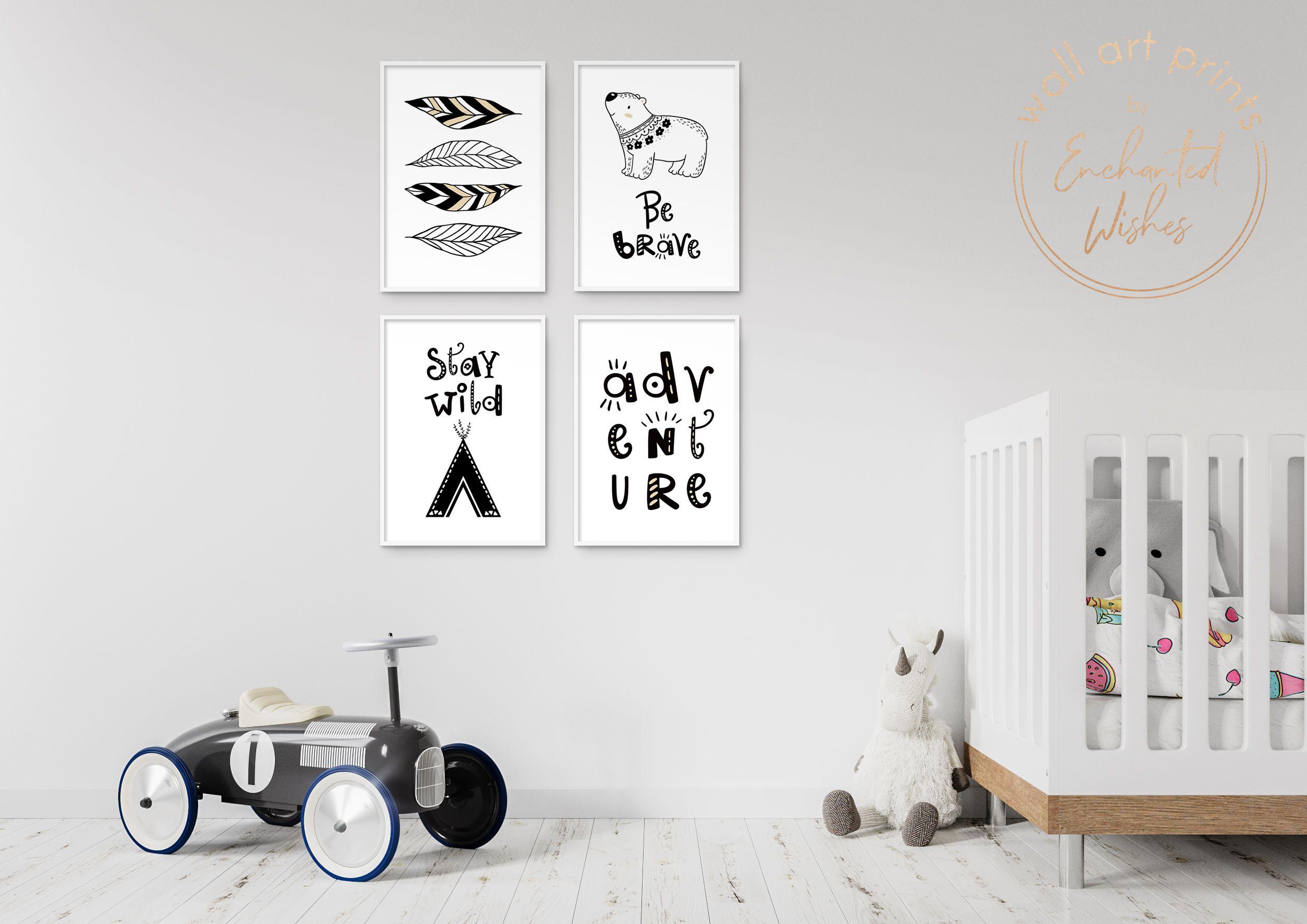 Set Of 4 Scandi Boy S Nursery Printable Prints Printable Wall Art In 2020 Nursery Decor Boy Gender Neutral Nursery Decor Scandi Nursery