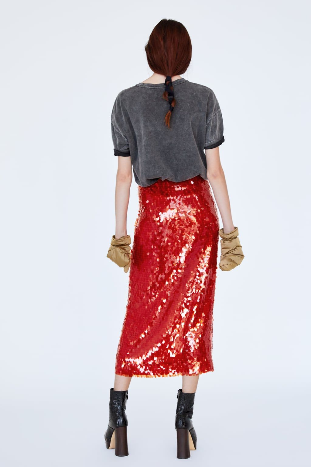 52f918791 Image 2 of SEQUIN SKIRT from Zara | My Style | Sequin skirt, Skirts ...