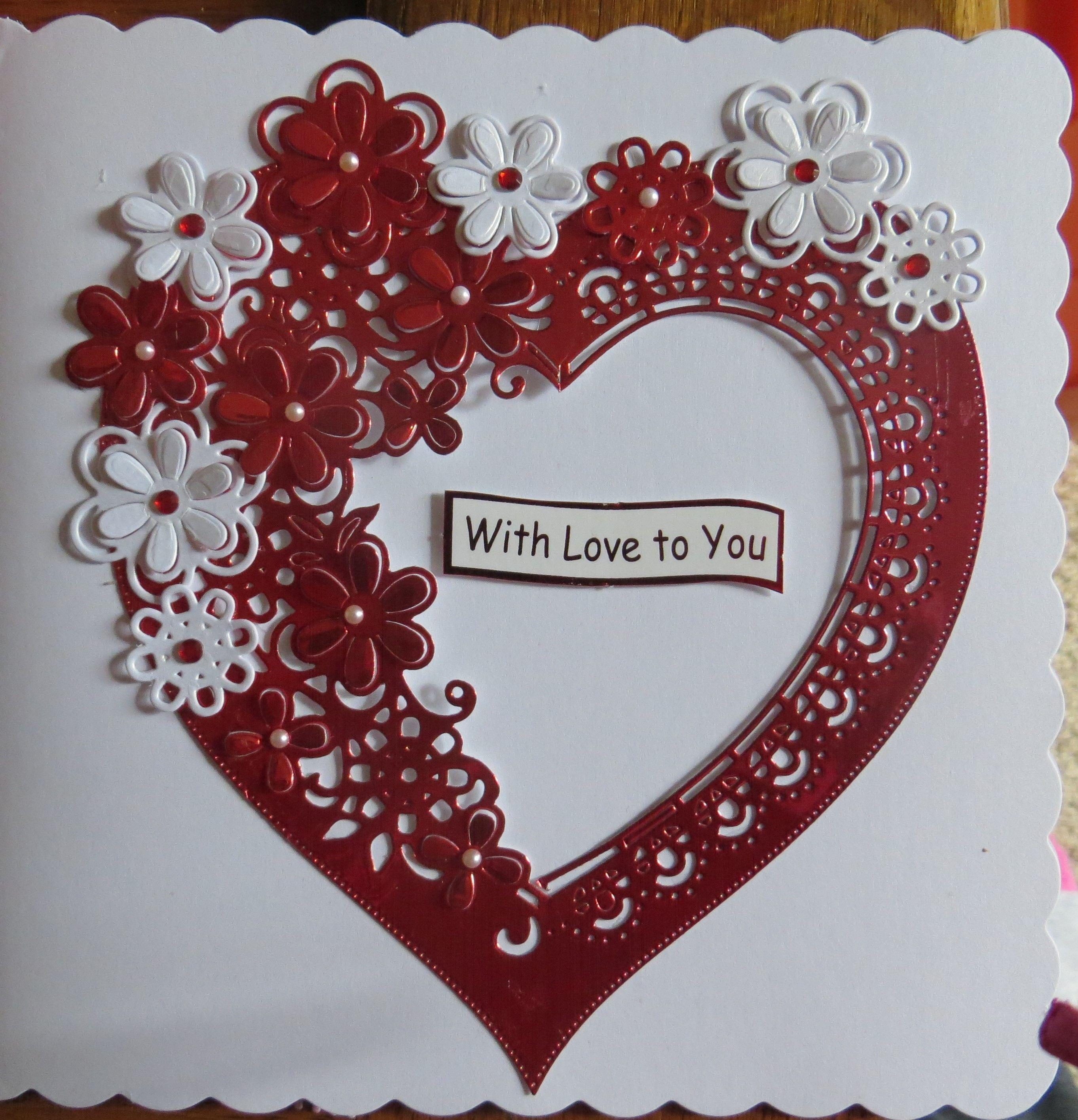 Wedding Valentine Cards Tonic Studios  Heart Frame Die Cuts