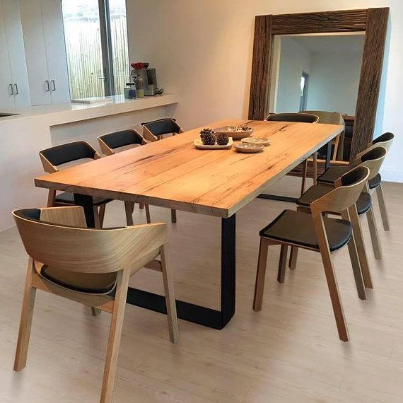 King Dining Table Loop Legs With Rounded Corners