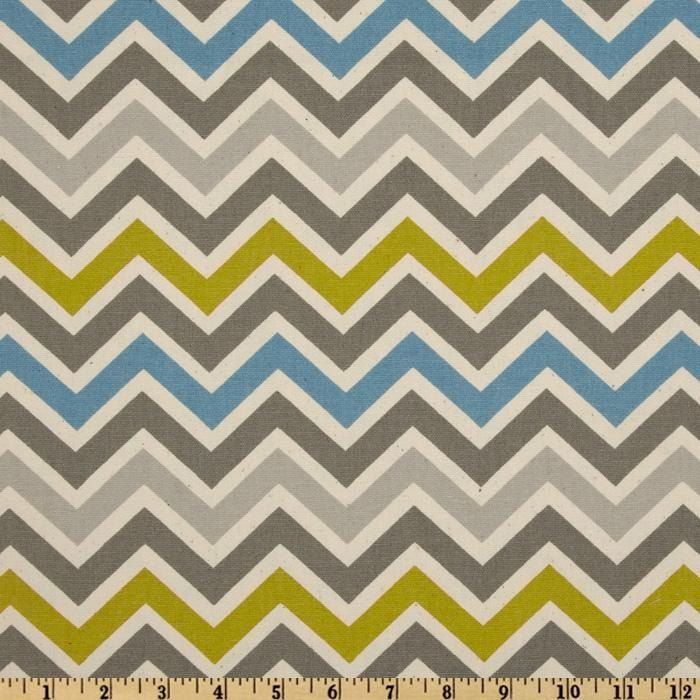 Premier Prints Zoom Zoom- Summerland/Natural Chevron- Fabric by ...