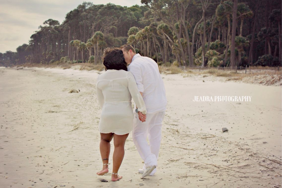 Beach engagement session. Beaufort, SC. Jeadra photography