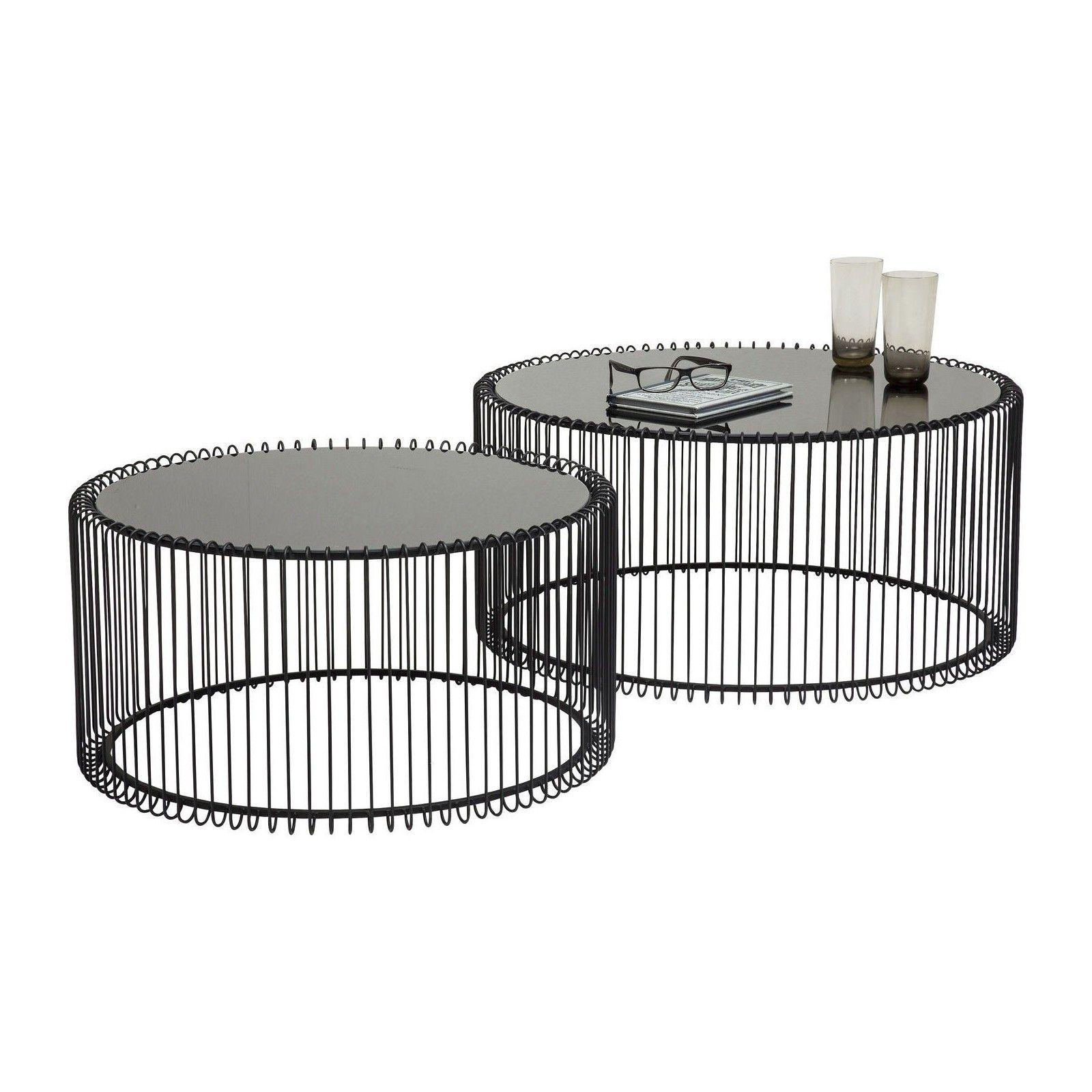 Table Basse Contemporaine Noire Wire Kare Design Table Basse Ronde Table Basse Table Basse Noire
