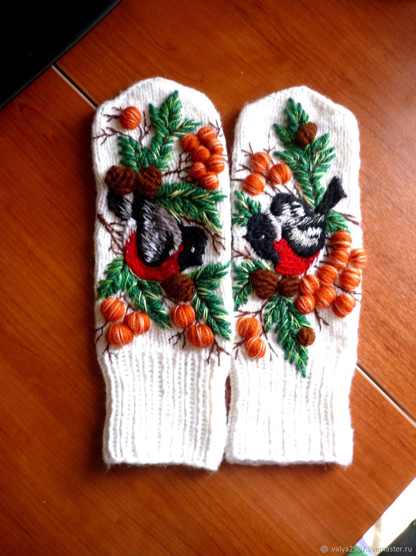 Объемная вышивка на варежках своими руками схемы фото 853