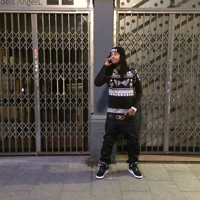 Waka Flocka Flame wearing Air Jordan 5 Oreo Waka Flocka 76861e2f9
