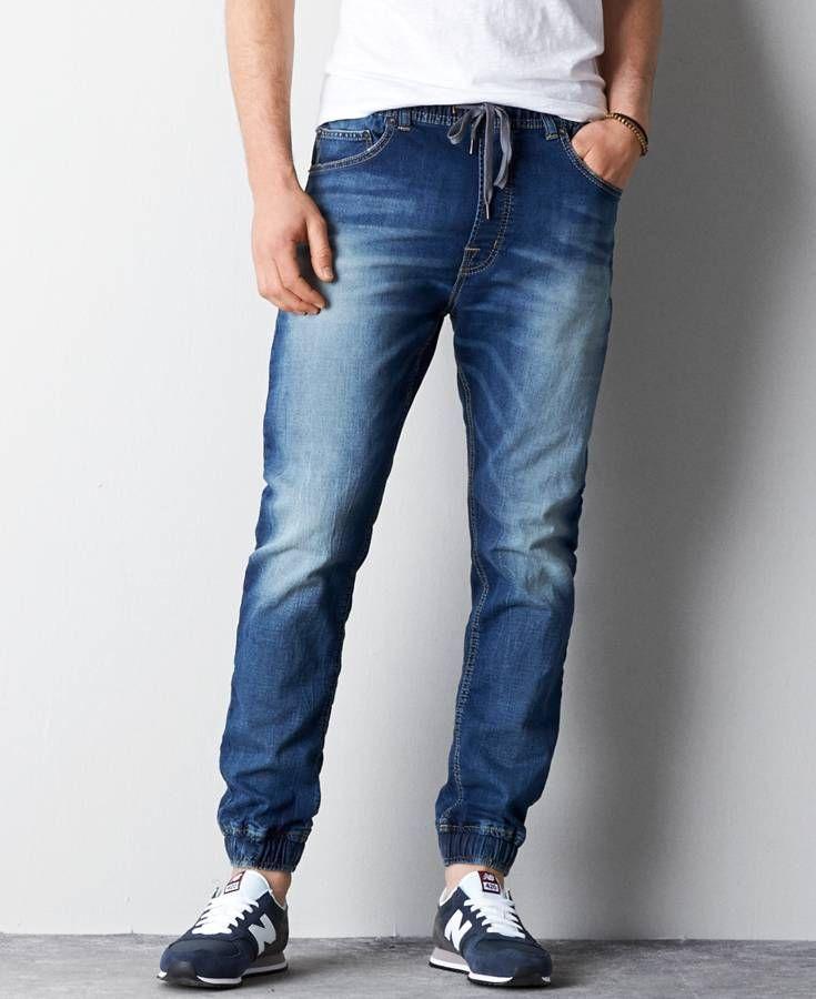 große Auswahl an Designs elegant im Stil Detaillierung American Eagle Denim Jogger (Jogging Pants), Men's, Light ...
