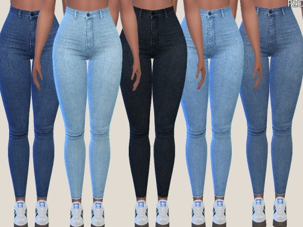 Clothing: Denim Skinny Jeans 015 by Pinkzombiecupcakes from The Sims Resource • Sims 4 Downloads
